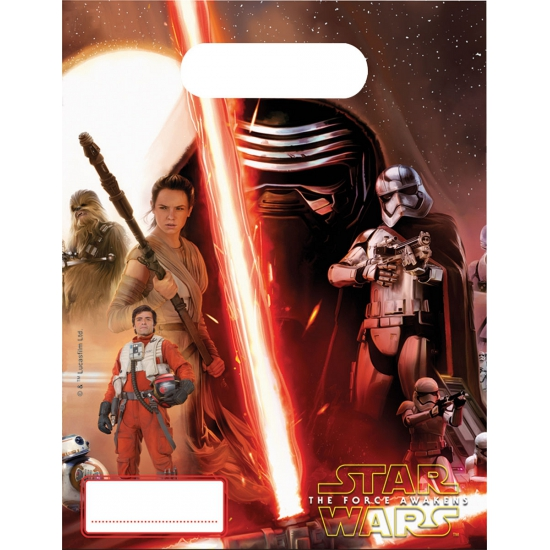 Star Wars feestzakjes 6 stuks Star Wars Kinderfeestjes