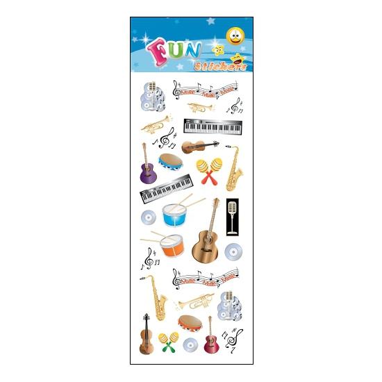 Stickervel muziek instrumenten
