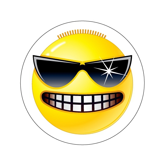 Stoere Smiley sticker type 3