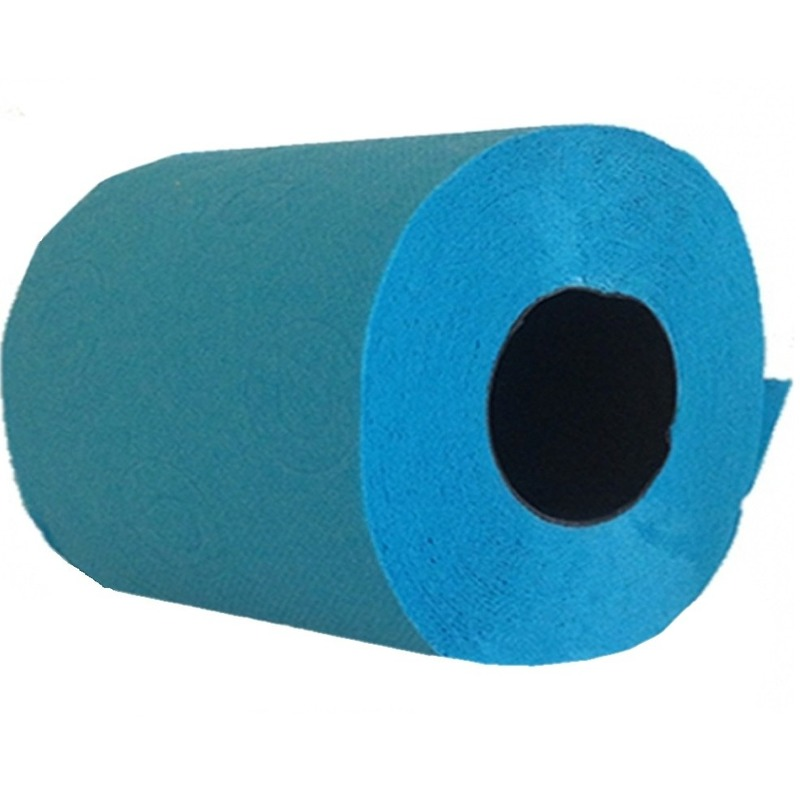 Turquoise toiletpapier