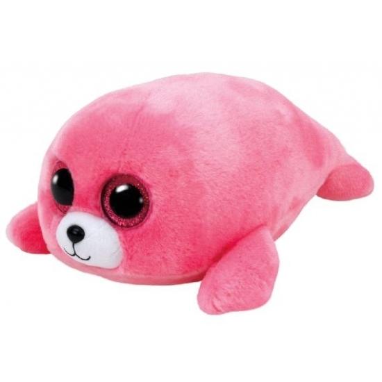 Ty Beanie Boo's Pierre pluche roze zeehond knuffel 15 cm