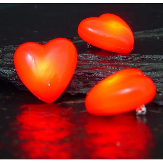 Valentijn Hartjes broche met knipperlicht