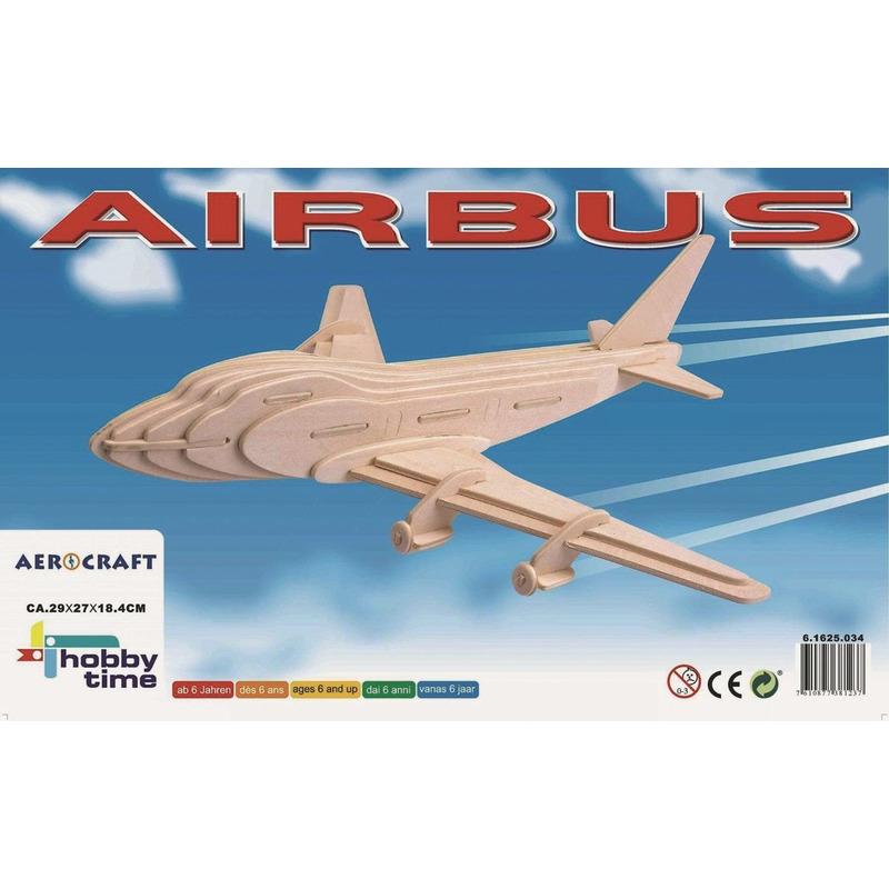 Vliegtuig Boeing 747 3D puzzel bouwpakket houten speelgoed