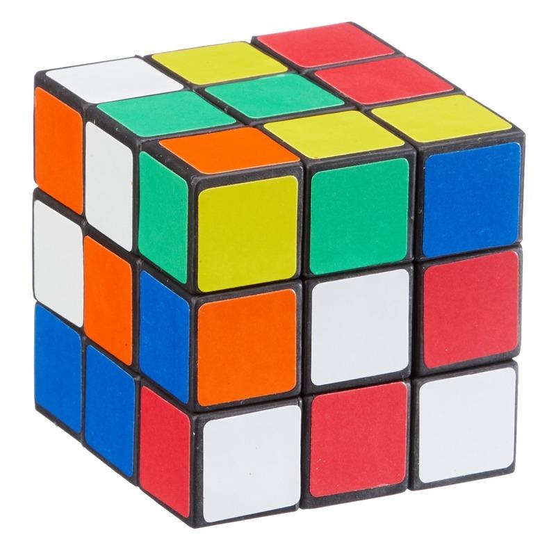 Voordelige kubus puzzels 6 cm