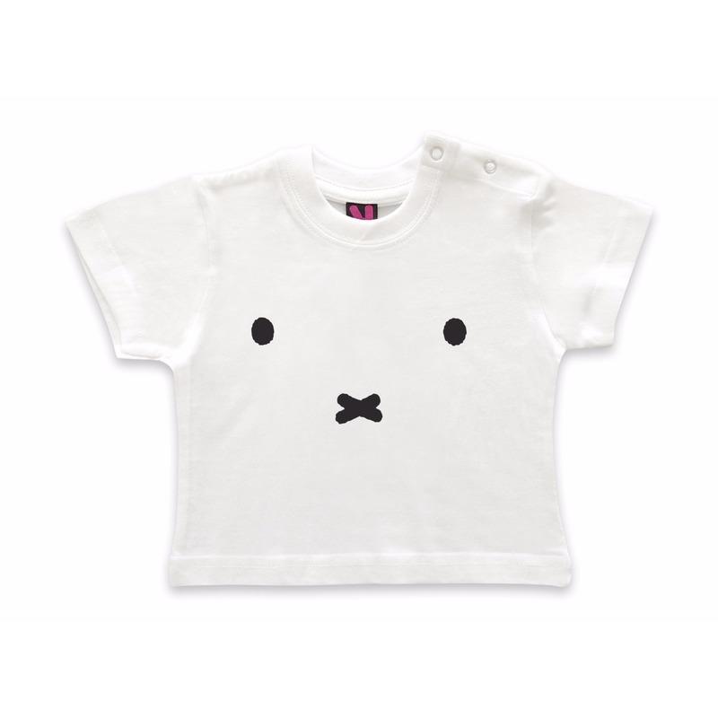 Wit baby t-shirt met Nijntje snoet