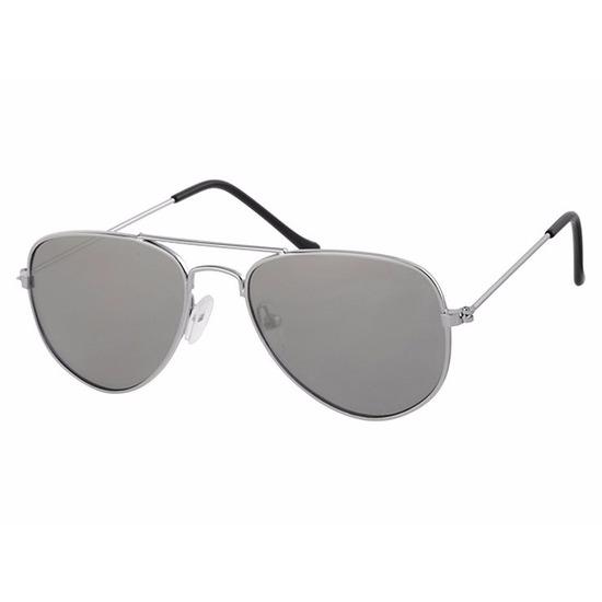 Zilveren baby-peuter piloten zonnebril