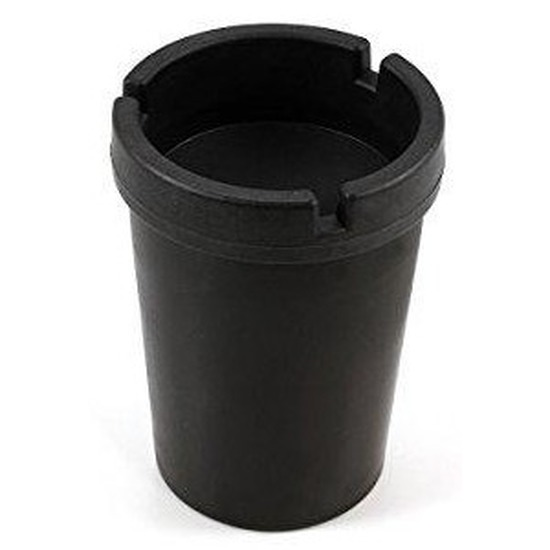 Zwarte auto asbak 11 cm