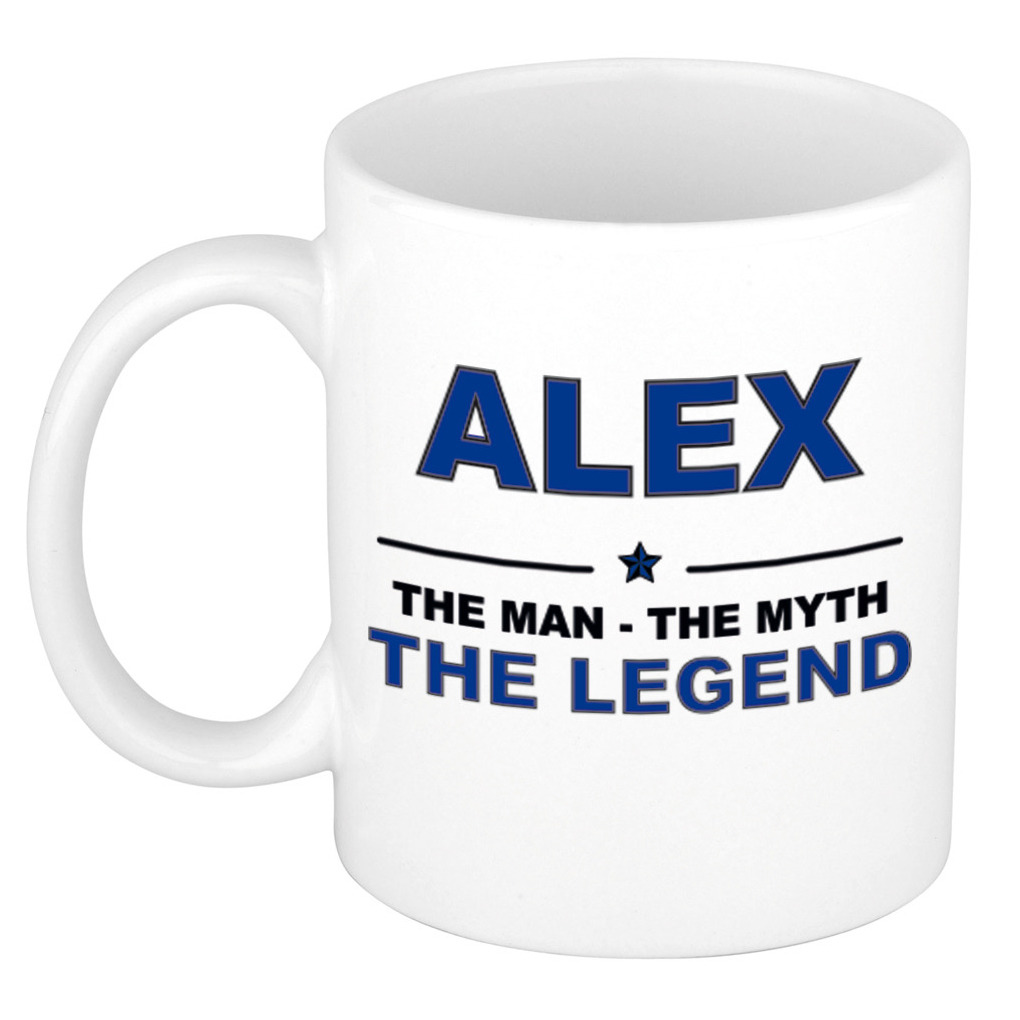 Alex The man, The myth the legend cadeau koffie mok-thee beker 300 ml
