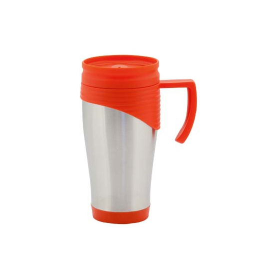 RVS Thermosbeker-warm houd beker rood 400 ml