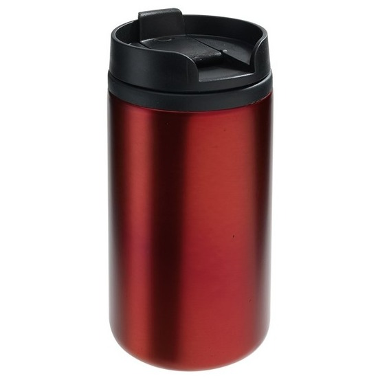 Thermosbeker-warmhoudbeker metallic rood 290 ml